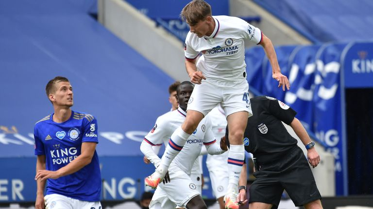 Billy Gilmour was making his first start for Chelsea since football restarted