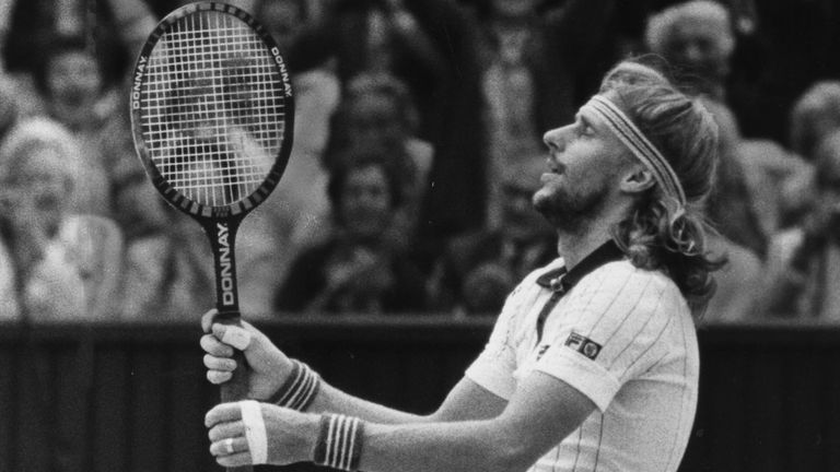 Borg goes down on his knees after defeating McEnroe in an unforgettable Wimbledon final