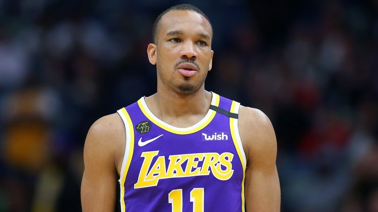 Avery Bradley of the LA Lakers