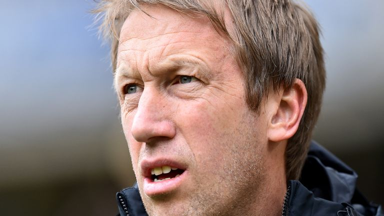 Graham Potter's Brighton will restart their Premier League campaign at home to Arsenal on Saturday
