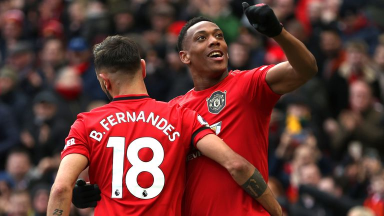 Fernandes and Martial Manchester United