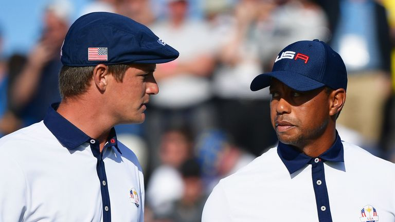Bryson DeChambeau partnered Tiger Woods for Team USA during the 2018 event