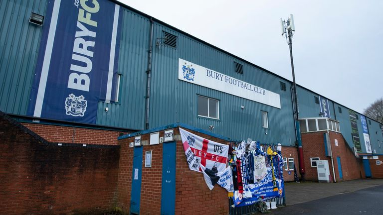 Bury were expelled from the Football League last August