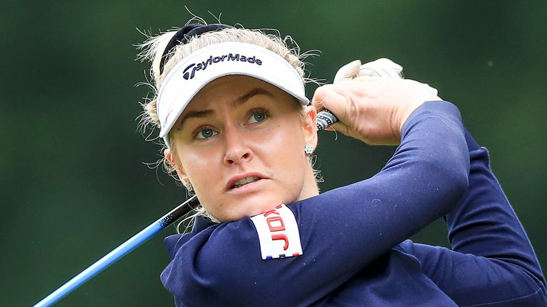 Charley Hull finished tied-seventh in the Rose Ladies Series event on Thursday afternoon