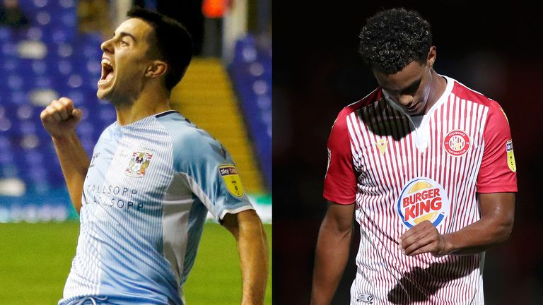 Coventry are League One champions, while Stevenage finished bottom of League Two