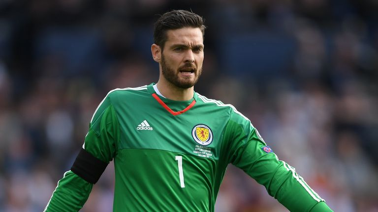Craig Gordon playing for Scotland