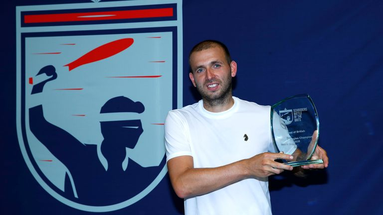 Dan Evans beat Kyle Edmund to win the Battle of the Brits exhibition event
