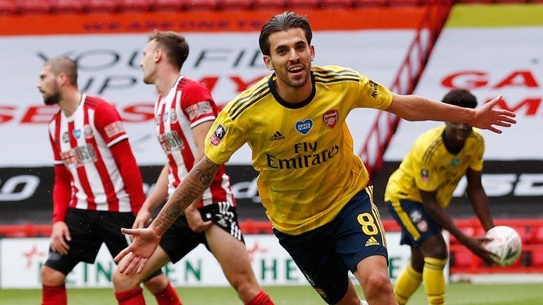 Dani Ceballos scored Arsenal's FA Cup winner against Sheffield United