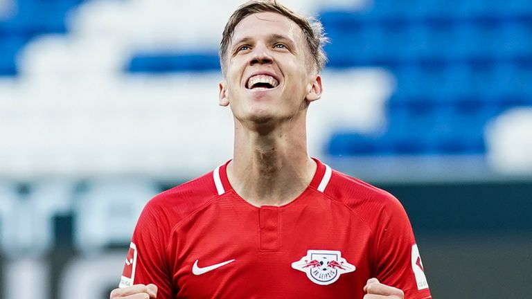 Dani Olmo scored both goals for RB Leipzig