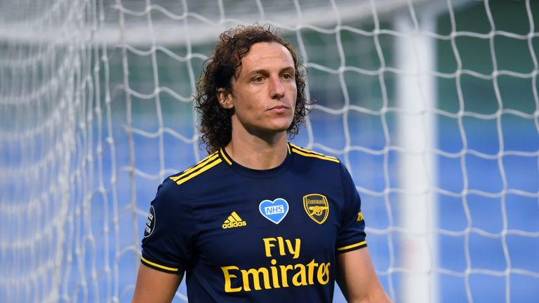 David Luiz was introduced in the 24th minute against Man City but was sent off shortly after half-time as Arsenal lost 3-0