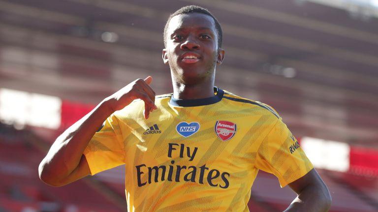 Eddie Nketiah capitalised on Alex McCarthy's mistake to give Arsenal the lead
