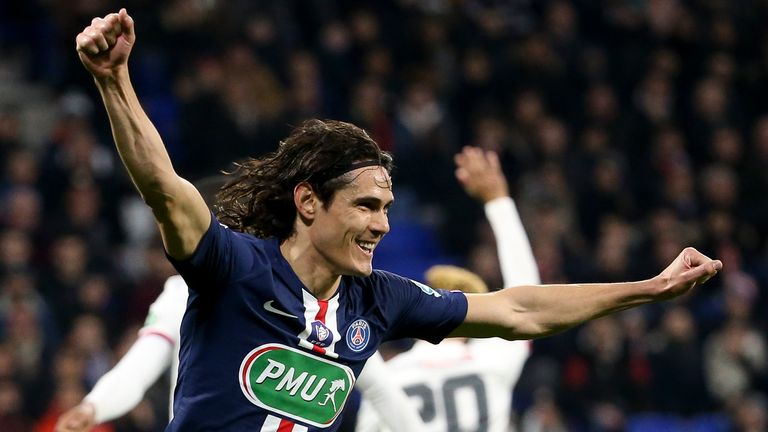 Edinson Cavani's PSG contract comes to an end this summer, and Arsenal remain linked with the forward