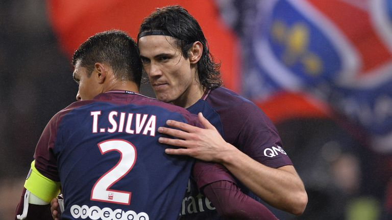 Edinson Cavani and Thiago Silva are both out of contract in the summer
