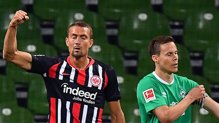 Eintracht Frankfurt's win all-but saved them from any worries about getting sucked into the relegation battle, with their cushion now extended to eight points