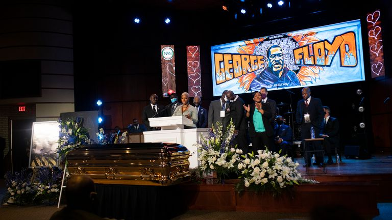 George Floyd's family held a memorial service for their son on Thursday