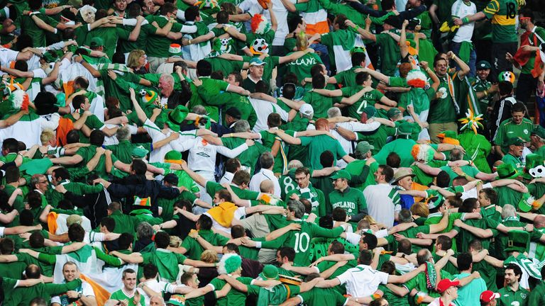 Republic of Ireland fans during the opening match of Euro 2012 v Croatia.