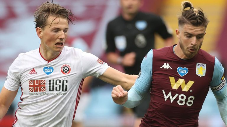 Jack Grealish (right) and Sander Berge in action at Villa Park