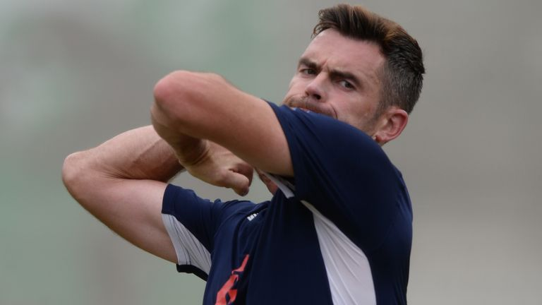 James Anderson injured his rib in his previous Test, in South Africa in January