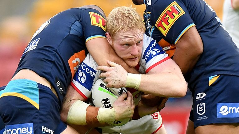 James Graham takes on the Gold Coast defence
