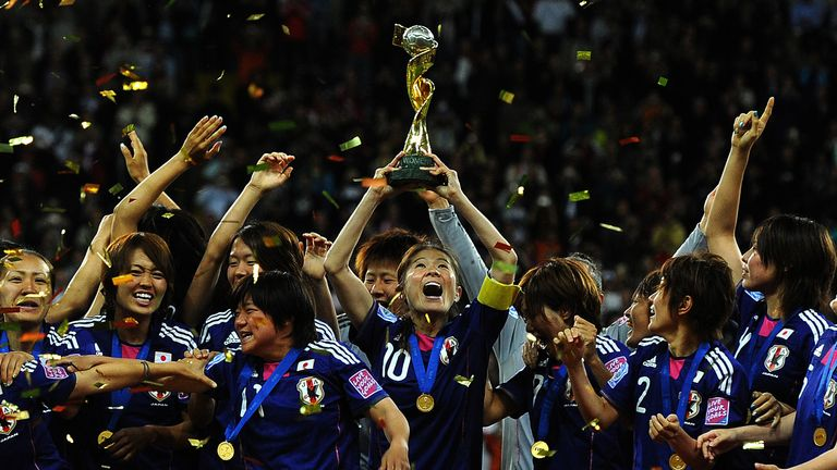 Japan won the 2011 Women's World Cup, shocking favourites the United States in the final