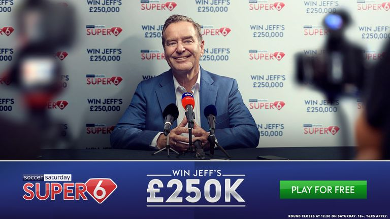 The £250,000 jackpot prize returns for Super 6.
