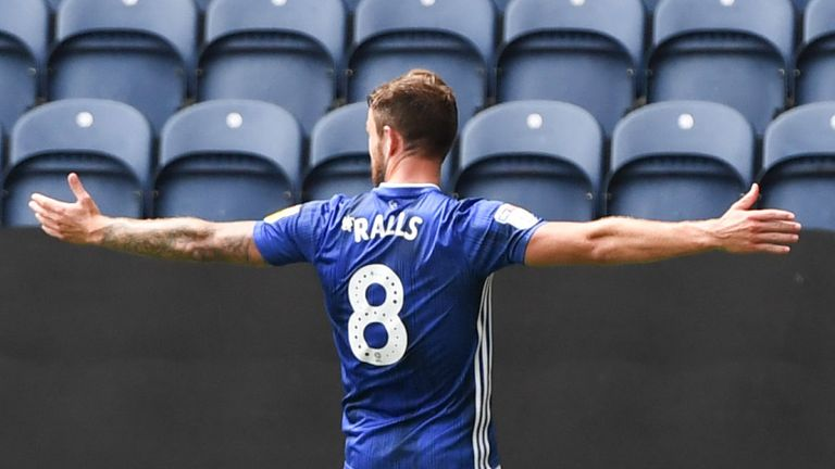 Joe Ralls scored opened the scoring for Cardiff after 69 minutes at Deepdale