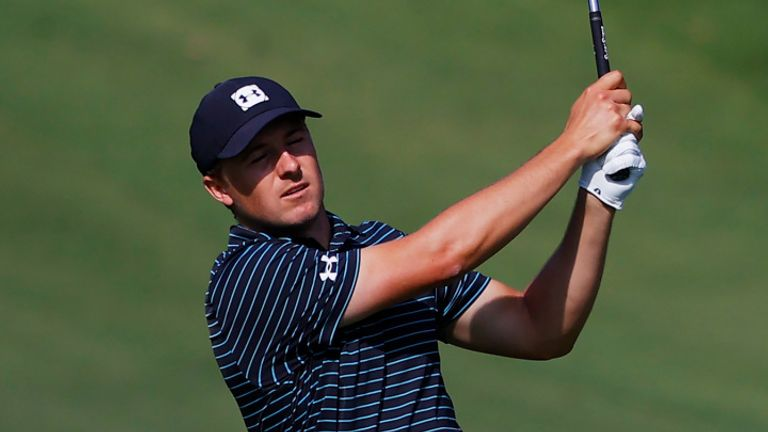 Spieth was playing alongside Justin Thomas and Rickie Fowler for the first two rounds