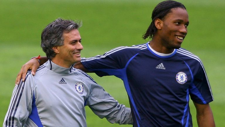 Mourinho signed Didier Drogba from Marseille in 2004 and the pair won the Premier League and the League Cup in their first season together at Chelsea