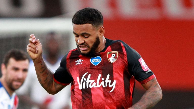 Joshua King was injured early in the second half against Crystal Palace