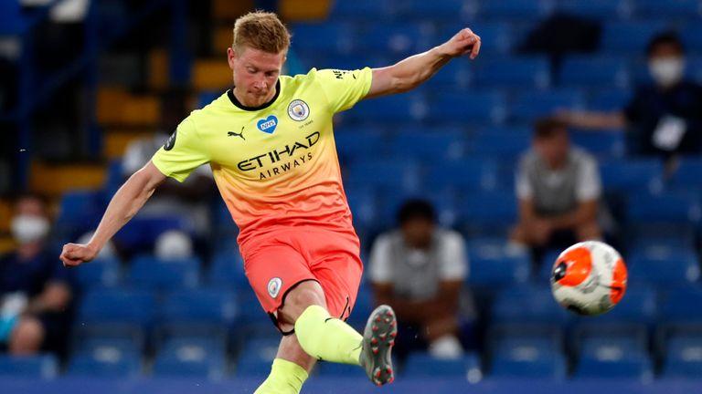 Kevin De Bruyne's brilliant free-kick brought Man City level