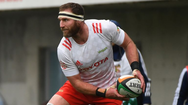 Ex-All Blacks captain Kieran Read in action for Toyota Verblitz during the 2020 Japan Top League season