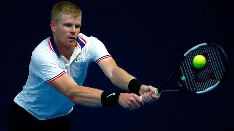 Edmund broke Evans at the start of the second set but then lost his serve straight away