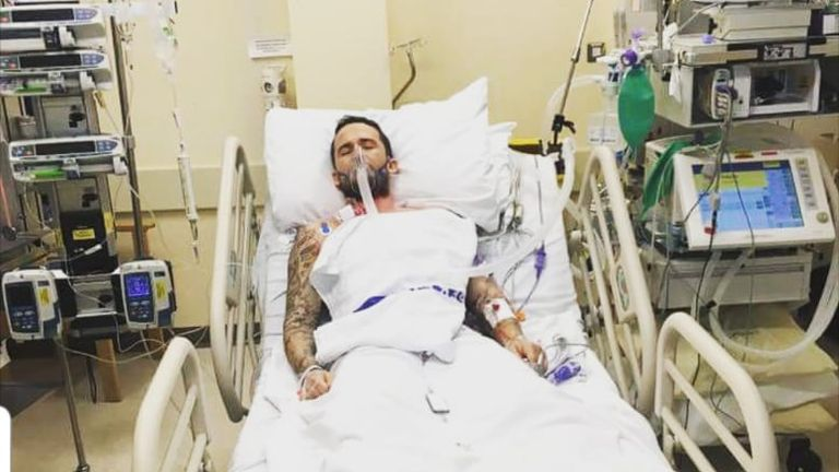 Nix in hospital in Sheffield following his open-heart surgery at just 30