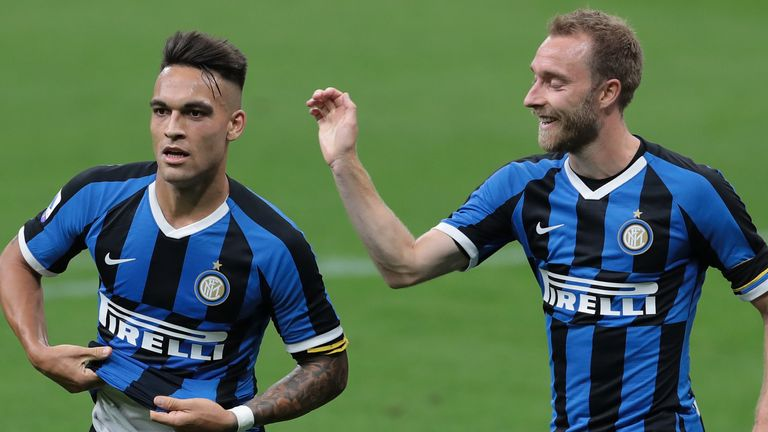 Lautaro Martinez scored Inter's second goal on Sunday