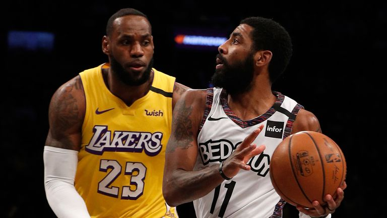LeBron James closes down former team-mate Kyrie Irving