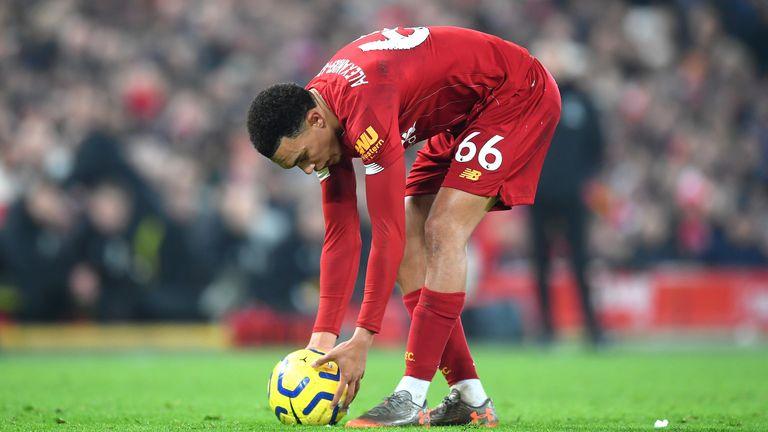 Liverpool trent free-kick