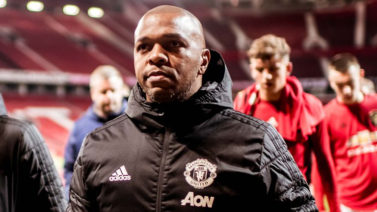 Quinton Fortune works as a coach for the Manchester United U23s