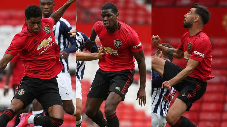 Marcus Rashford returned, while Paul Pogba and Bruno Fernandes played together in the West Brom friendlies