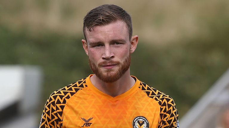 Mark O'Brien made 127 appearances for Newport County