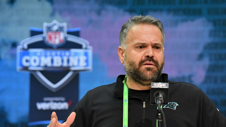 New Carolina Panthers head coach Matt Rhule says he will support his players who opt to 'take a knee'