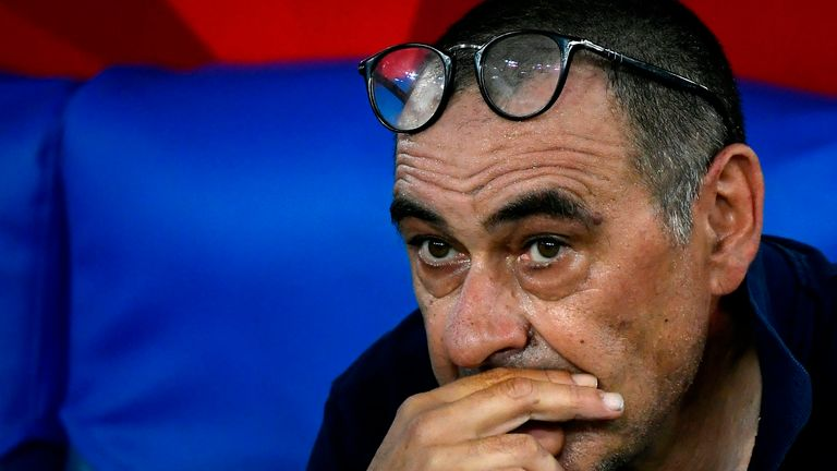 Maurizio Sarri has won eight promotions as a manager but no domestic titles