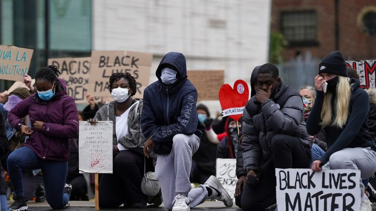 Fleming attended a Black Lives Matter protest on Teeside