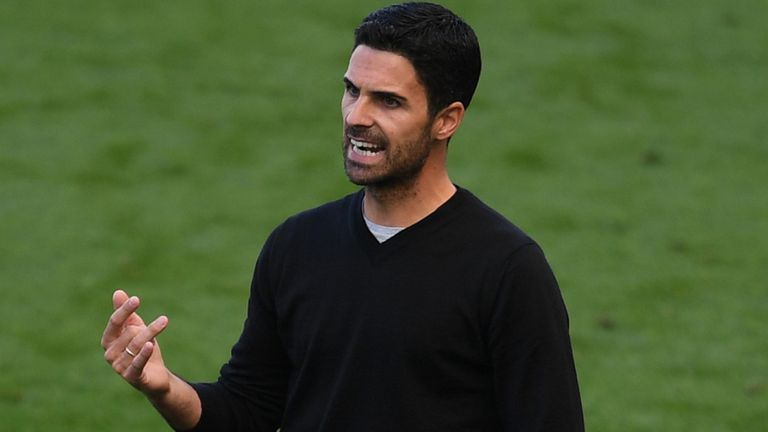 Arsenal head coach Mikel Arteta