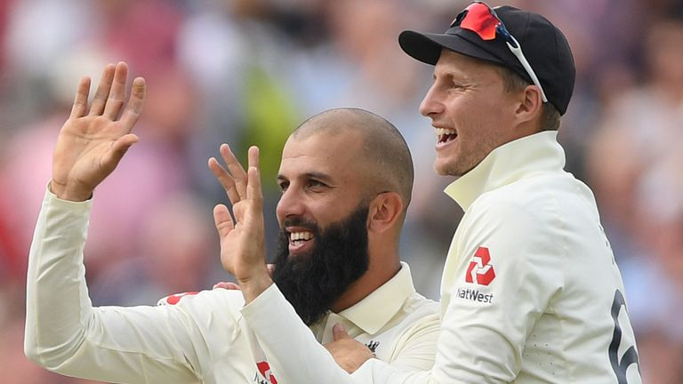 Moeen Ali is alongside Virdi in England's 30-man Test training group at The Ageas Bowl