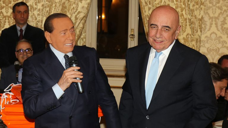 Silvio Berlusconi and Adriano Galliani