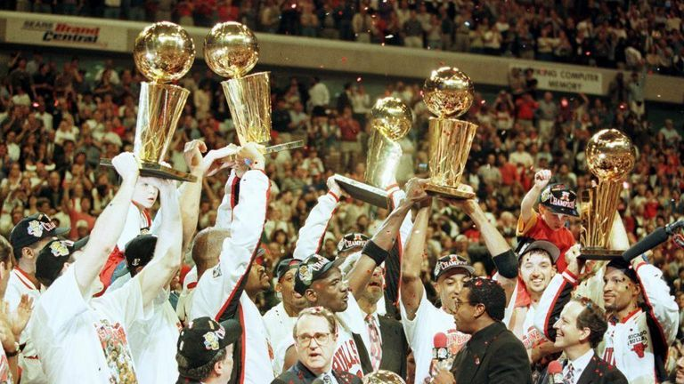 On this day back in 1997, Michael Jordan's Chicago Bulls claimed their fifth title in seven years after beating the Utah Jazz 4-2 in the NBA Finals.