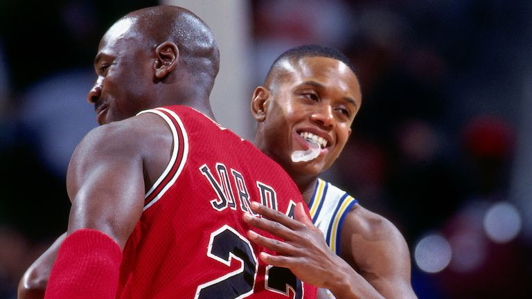 Michael Jordan and BJ Armstrong