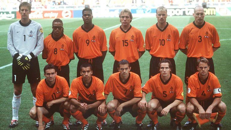 The Dutch team ahead of their semi-final v Italy.