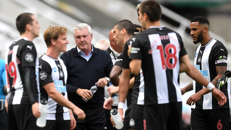 Newcastle beat Sheffield United at St James' Park on their return to Premier League action