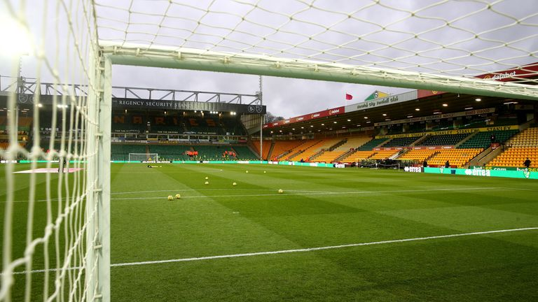Norwich's friendly against Tottenham was played behind closed doors at Carrow Road, prior to the resumption of the Premier League season